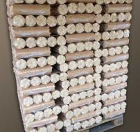 Bûchettes de bois densifiées 90mm (Pal. Euro...